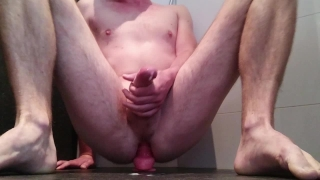 Multiple (handsfree) cumshots riding my dildo Doggy sensual