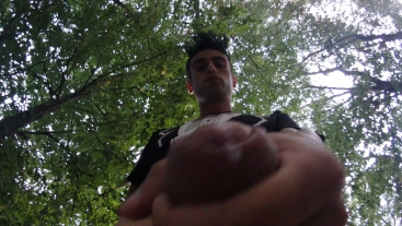Outdoor cumshot on your face POV (cum on camera lens)