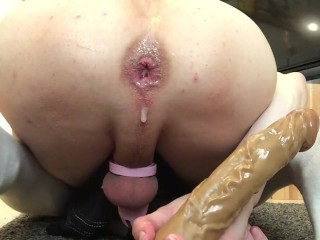 Caged Slut Playing Around at Home