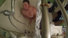 guy finds shower spy cam and masterbate teases