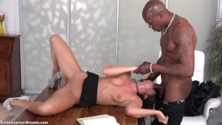 Black Little Caprice get fucked first time from a big Black Cock Bent dark