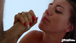 BRUNETTE BABE RILYNN RAE FUCKED HARD, FAST AND ROUGH IN DOGGYSTYLE Tits young