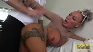 Lascivious subslut Brooke Jameson dominated and fed cum
