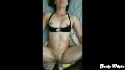 Creamy White Pussy on BBC. Teen Cums and Jerks with Pussy for Cream Pie