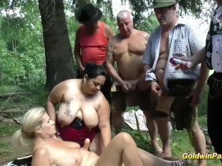 German outdoor bbw girls...