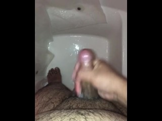 Washing and masturbating