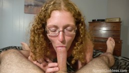 Natural Redhead Milf Ivy giving a sensual blowjob with two cum shots!