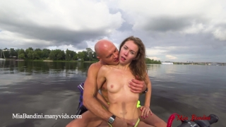 On anal centre the bandini ride the city public in ski jet mia sex love