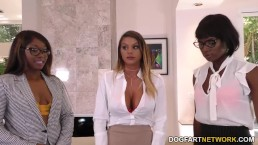 Lesbian Brooklyn Chase, Ana Foxxx & Skyler Nicole