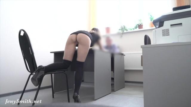 Hidden cam! Strips at REAL job interview