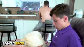 BANGBROS - Provacative MILF Stepmom Alura Jenson Bonks Juan El Caballo Loco Butt in