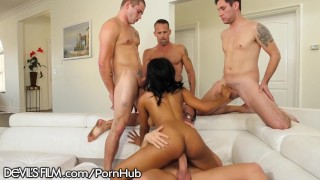 All blow foxx gangbang big that cocks jenna over her with cum shot