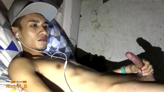 Filipino Boy Jerking Off and Cumming on Webcam Anal high
