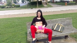 Asian Flashing Buttplug & Fuck Dildo In Public Park lizlovejoy.manyvids.com