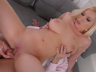 Romanian stunners Donna Bell & Bijou fucked real hard during job interview