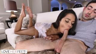 Screen Capture of Video Titled: LoveHerFeet - Vienna Black's Orgasmic Toe Sucking Session