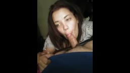 She loves sucking my dick before she goes home to her boyfriend