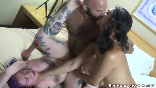 Young goth blowjob Real kinky couple get to tag-team a young goth slut in fun, rough threesome