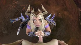 Bridgette B is your Warlock mistress and she's commanding you to cum