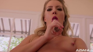 Candice she cums dare pussy fingers till her butt big