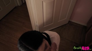Bratty Sis - Quick Ride On Step Brother's Huge Cock Before Class S5:E1  doggy style point of view big cock babe reverse cowgirl blowjob missionary big dick young cock sucking brattysis brunette petite teenager