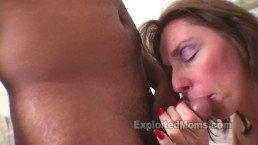 Amateur Mom 1st Time does a BBC in Interracial Mature Video