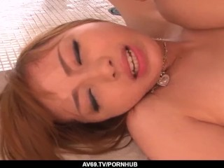 Japanese fuck doll with hairy pussy, intense adult – More at 69avs.com