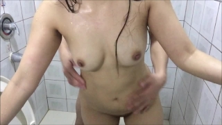 PETITE ASIAN TEEN SHOWER FUCK Riding big