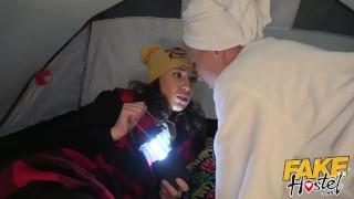 Seduced big by tits lesbian happy young hostel milf fake camper girl pussy