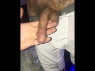 StepSon sucking daddy's giant cock soft