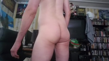 Middle aged man ass.  Also cock