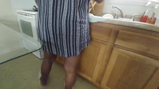 Upskirt Video My wife little sister can't find the pots and pans.