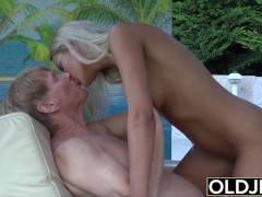 Teen gives grandpa hard erection she is better than a viagra