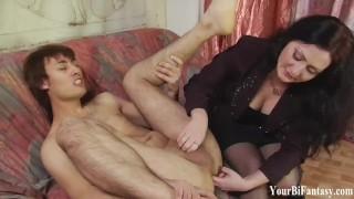 Bisexual Femdom And Gay Fantasy Domination Porn Black dick