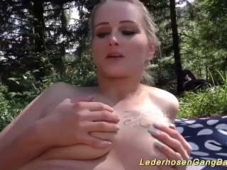 Preview 5 of Real Outdoor Groupsex Fuck Orgy