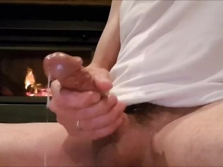 Quick wank by the fire