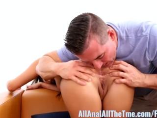 Allie B Gets Tan Ass Eaten at AllAnal!