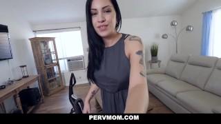 PervMom - Horny Latina Stepmom Sucks My Cock Whooty tits