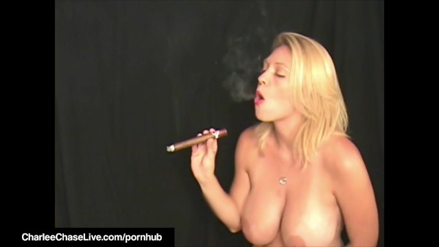 Cigar Smoking Milf Charlee Chase Orders BoyToy To Lick Cunt! 4