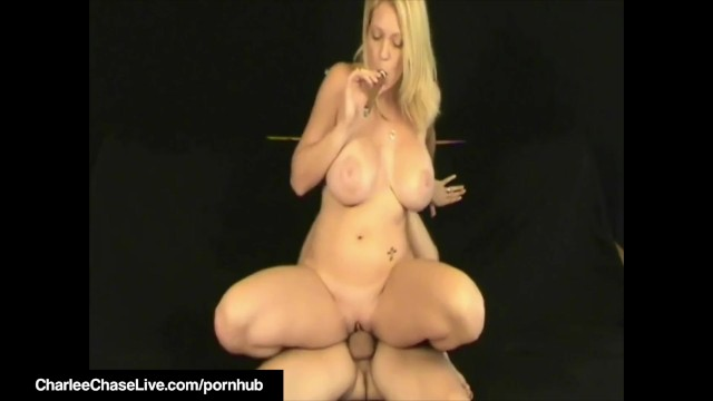 Cigar Smoking Milf Charlee Chase Orders BoyToy To Lick Cunt! 27