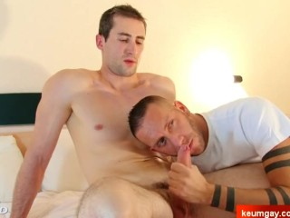 handsome innocent straight neighbour serviced in spite of him.