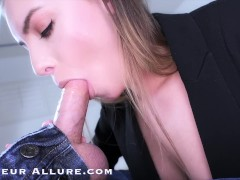 Sexy Laser Technician Summer Brooks Enjoys Cock and Cum in her Mouth