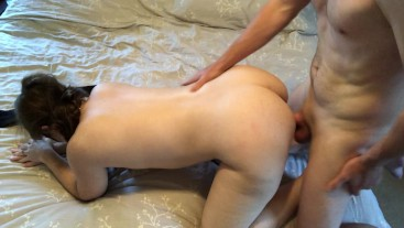 Shy Redhead Milf face fucked and pounded