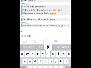 Sexchat Sexting With Friends CHEATING GF on Snapchat !! Snap: TextFantasy