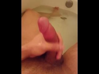 Massive Cumshot - Dirty in the Tub