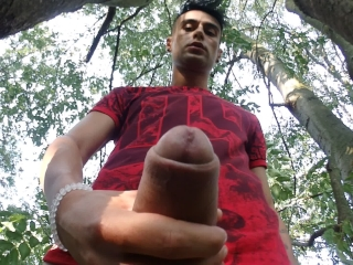 Public cum on camera and lick it off (taste own cum)