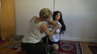 Kinbaku bondage - Me suffering in rope and shared an intense moment Orgasm vegetable