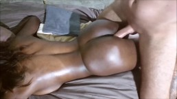 hot amateur student with Bubble Butt get Massage until Anal Creampie