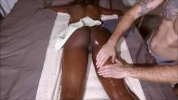 hot amateur student with Bubble Butt get Massage until Anal Creampie