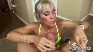 Erotic Nikki - Multitasking MILF Gives POV Rub And Tug While Smoking A Cig porno